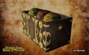 3D dragon eggs model
