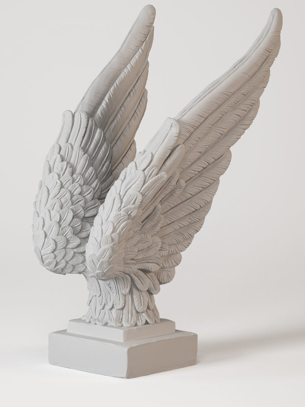 3D angel wings model