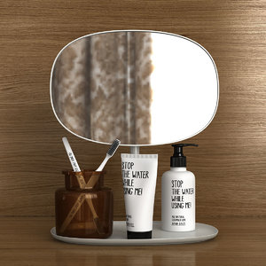 3D bath vanity mirror set