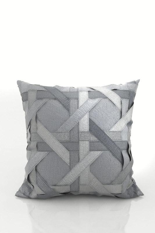 3D model lattice silk dupioni pillow