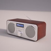 3D auna georgia dab radio model
