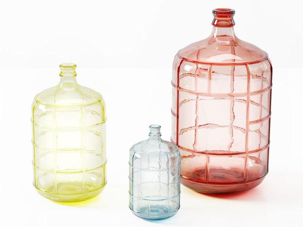 hk living waterfles bottle 3D model