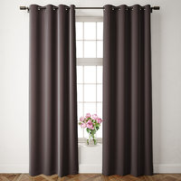 3D velvet grommet curtains