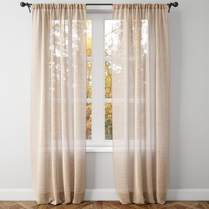 belgian linen curtains model
