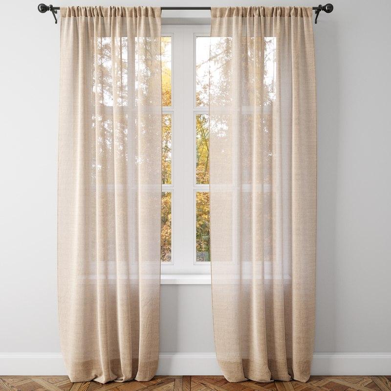 belgian linen curtains model