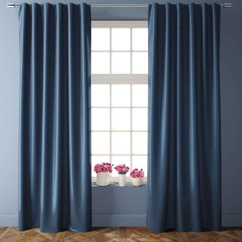 3D greenwich curtains