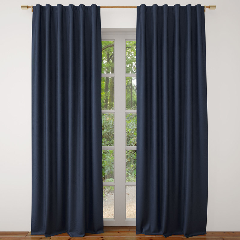 belgian flax linen curtain 3D model