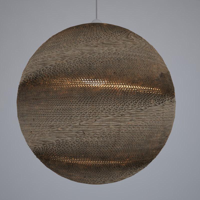 3D lamp carton model