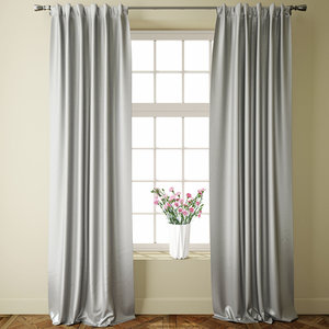 3D jacquard grey curtains