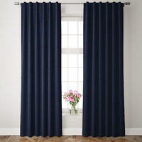 velvet pole pocket curtains 3D model