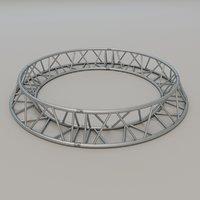 triangular circular truss 3D