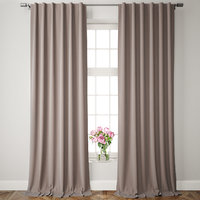 velvet pole pocket curtains model