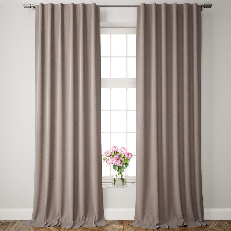 velvet pole pocket curtains model