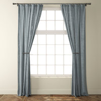 3D country light grey linen model
