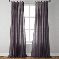 pinch-pleat curtains 3D model