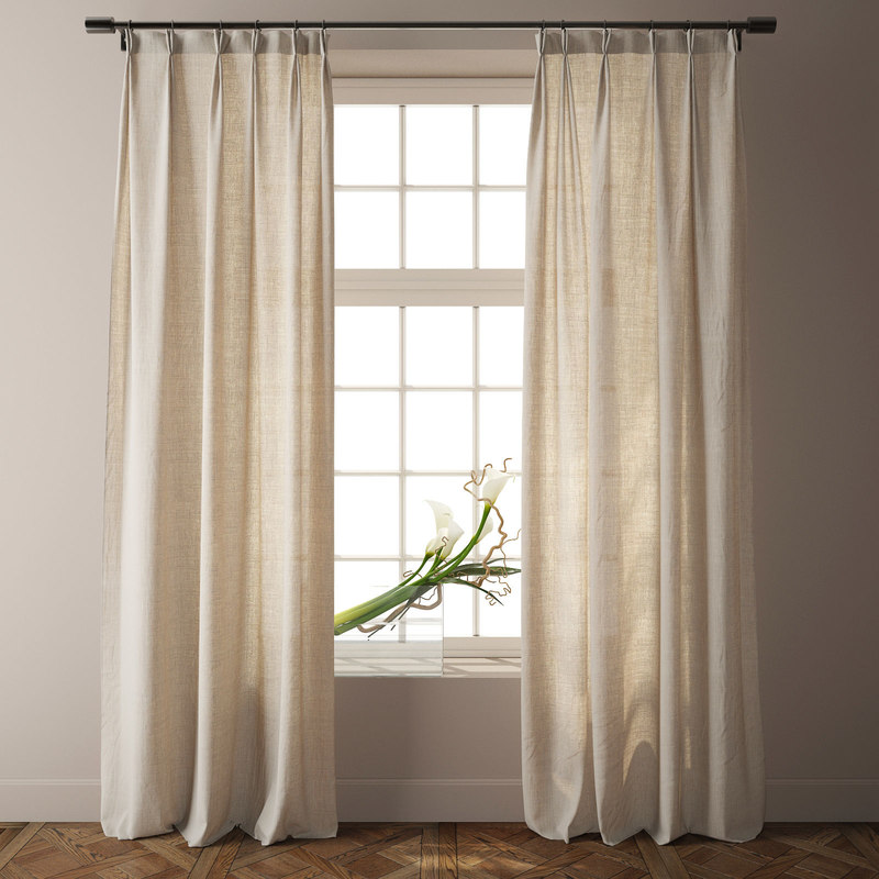 3D country solid nature linen