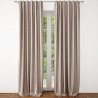 3D model luster velvet curtain