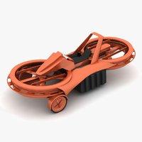 aero-x hoverbike 3D model