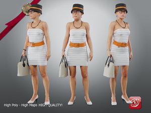 casual female cc 21 3D model