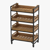 retail shelf 02 3D model