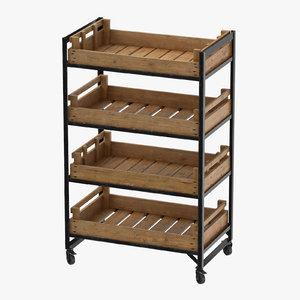 retail shelf 02 3D model