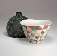 TANIA ROLLOND Vase and Bowl