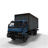 semi truck 3D