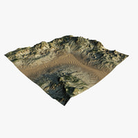 3D model terrain ready
