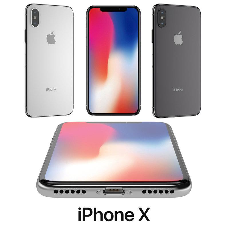 apple iphonex 3D model