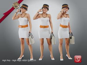 casual female cc 21 3D