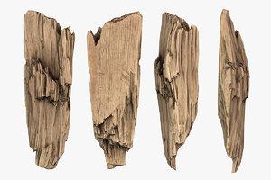 wooden plank debris model