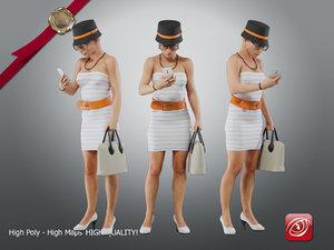 3D model casual female cc 21