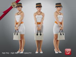 3D casual female cc 21