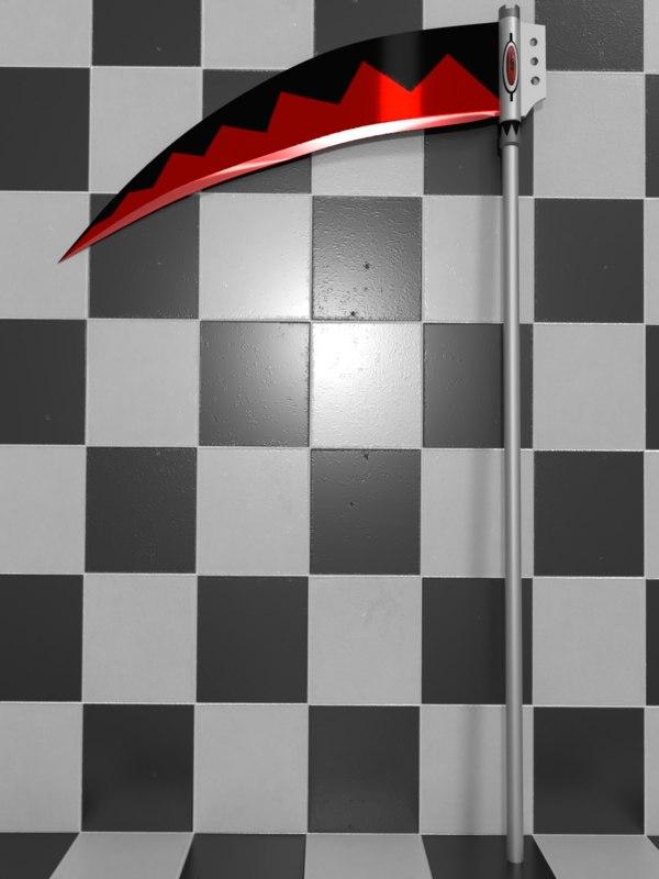 3D scythe soul eater background model