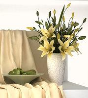 asiatic lilies ceramic vase model