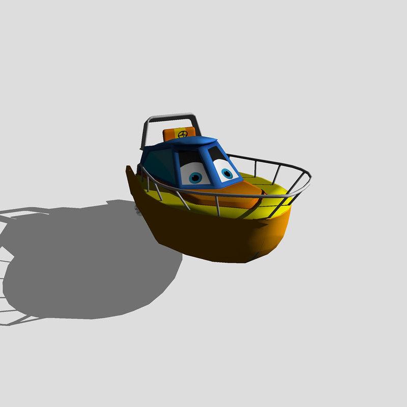 3D model speedboat