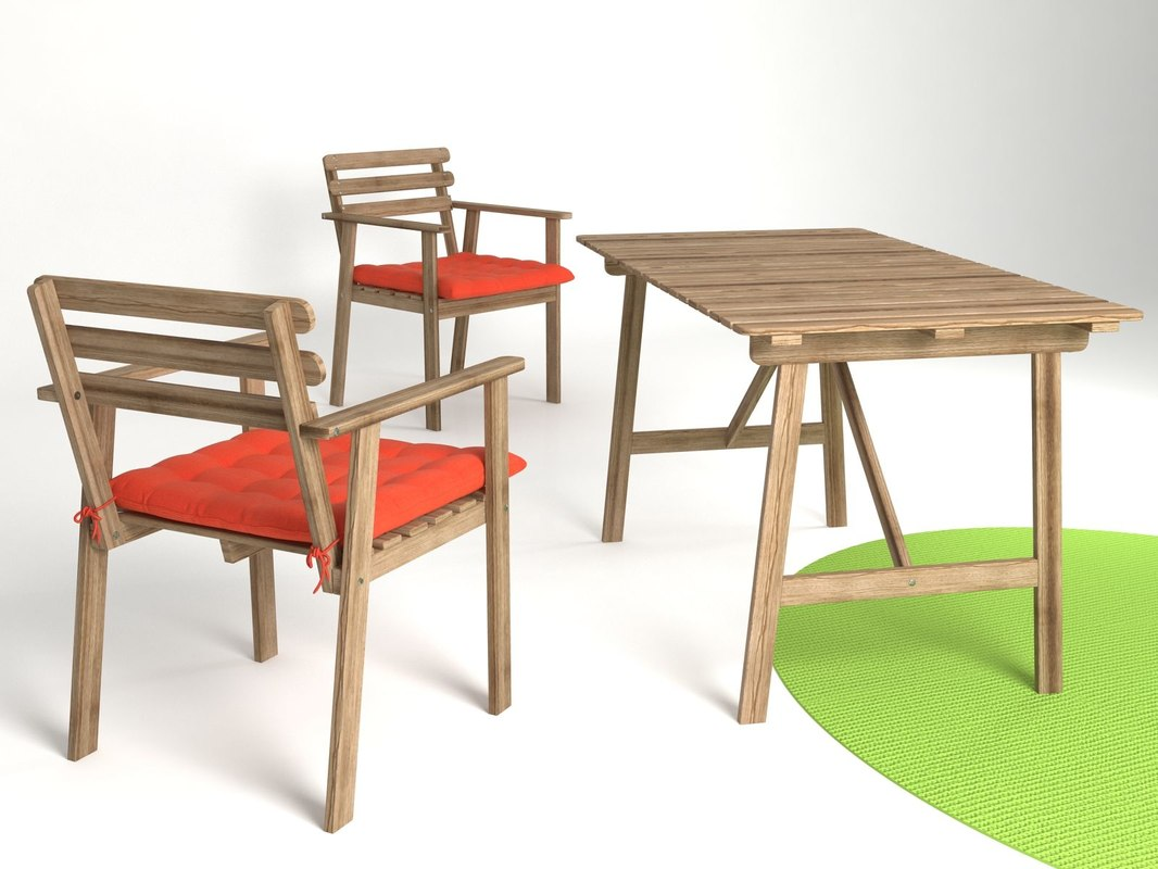 3D ikea askholmen table model