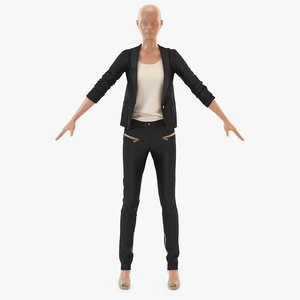 3D women s casual suit model