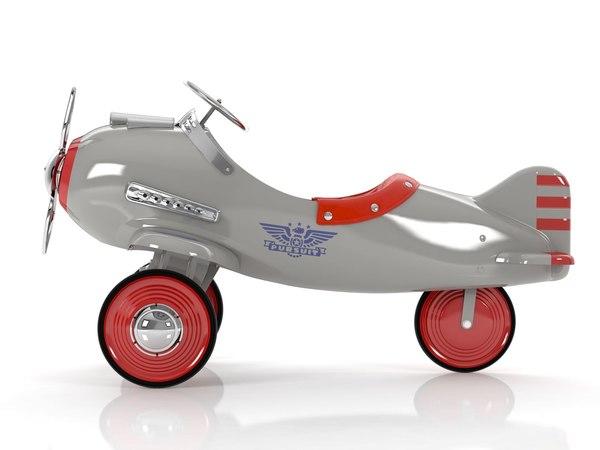 rh vintage pedal plane 3D model