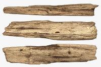 broken wood plank 3D