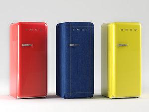 3D smeg fab28 fridge