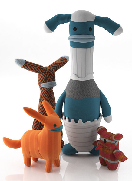 3D stupid creatures sock monsters model
