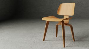 3D model lcw lounge chair wood