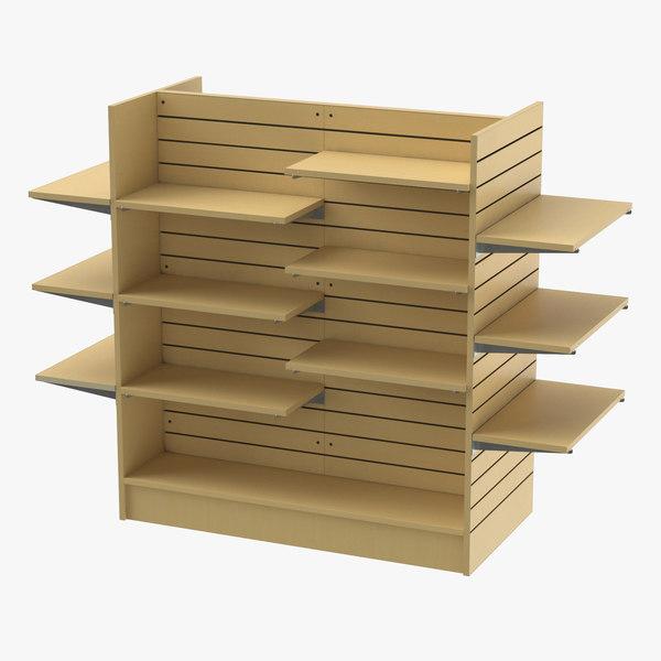 slat wall gondolas shelves 3D model