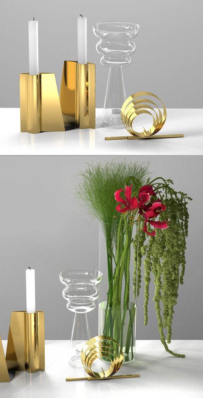 amaranthus nerine centerpiece 3D
