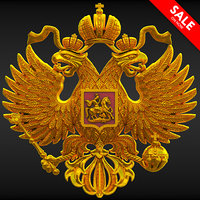 double-headed russian eagle 3D model