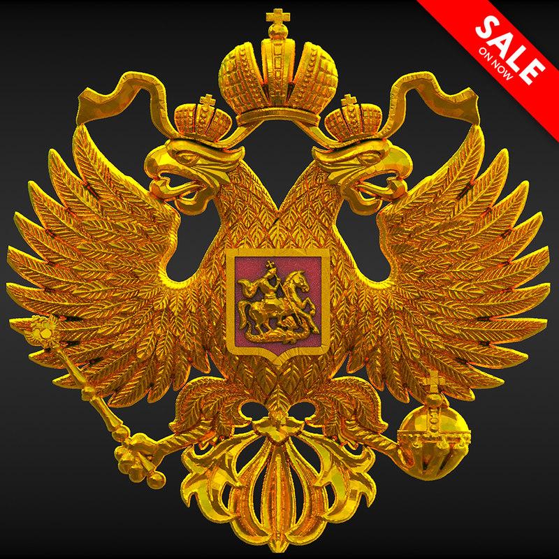 double-headed russian eagle 3D model
