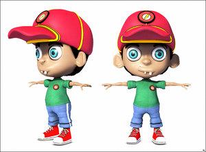 3D boy cartoon toon model