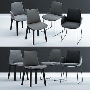 3D poliform ventura chair