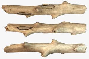 3D stick piece model